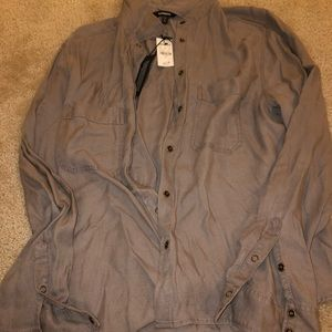Long sleeve button down blouse NWT